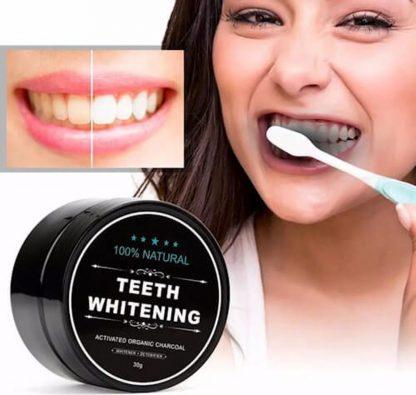 Houtskool tandenbleker